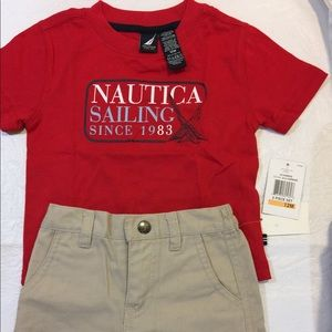 NWT Nautica Infant Boys Shorts and T-shirt